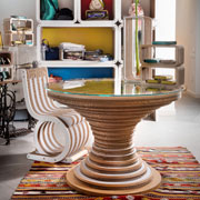 Clessidra Table and Twist Chair Lessmore for Kinanto. Design Giorgio Caporaso