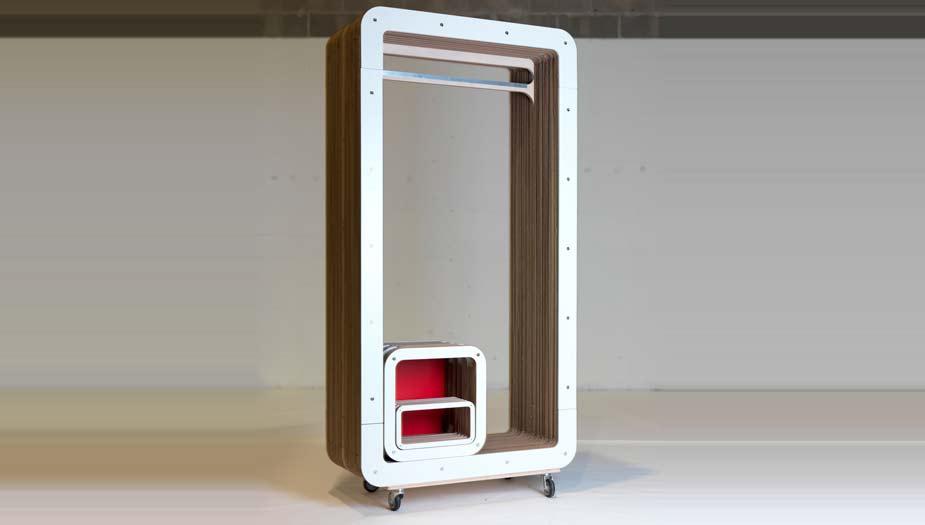 Appendiabiti Legno Design.Appendiabiti In Cartone By Lessmore Design Giorgio Caporaso
