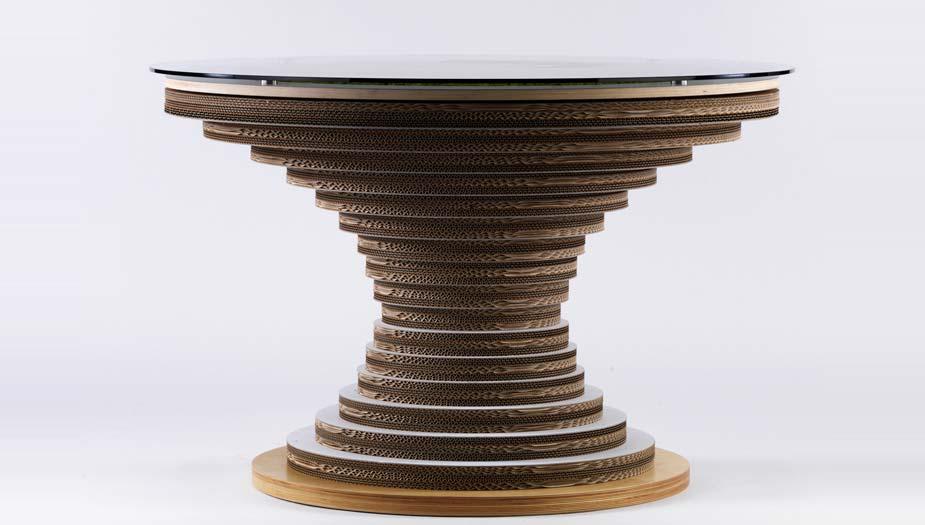 Clessidra tavolo in cartone by lessmore design giorgio caporaso - Clessidra da tavolo ...