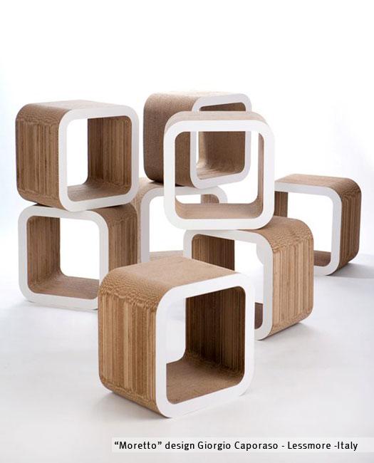 Moretto - modulo in cartone by Lessmore - design Giorgio Caporaso