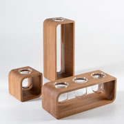 To Be - wood vases, design by Giorgio Caporaso for Lessmore