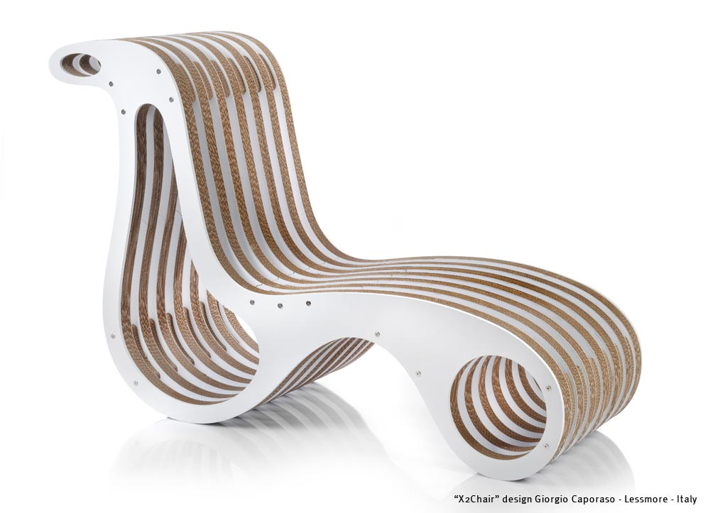 Cardboard Lessmore Chaise By Design Caporaso X2chair Giorgio Longue YfgymI7vb6