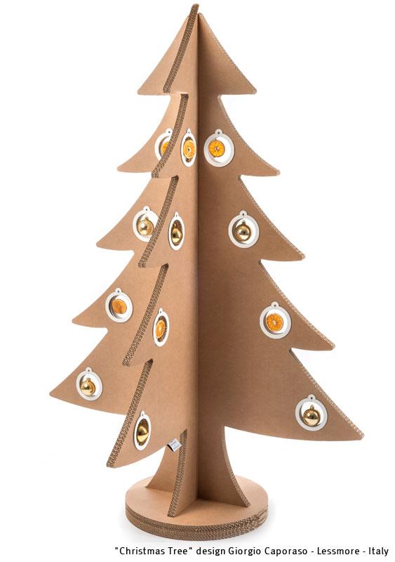 Decorazioni Natalizie Di Cartone.Albero Di Natale In Cartone Design Giorgio Caporaso Lessmore