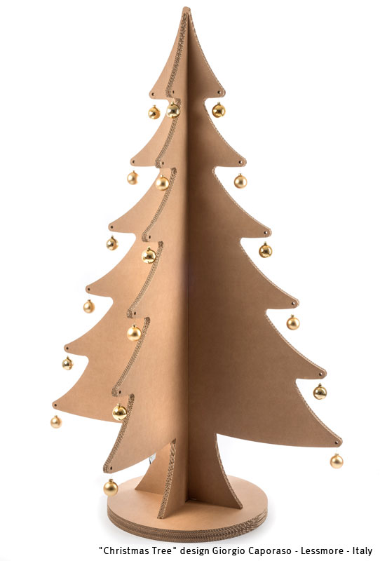 Cardboard Christmas Tree.Lessmore Christmas Edition Cardboard Christmas Tree